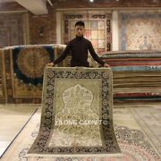 Yilong 4and039x6and039 Tapestry Handmade Rugs Tree Of Life Hand Knotted Silk Carpets L131a