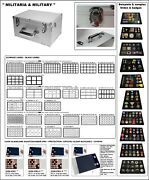 Look 1-272 Gigant Collector Case Militaria And Black Collecting Trays Coin Trays