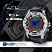 Azimuth Round-1 Grand Baccarat Game Ladies Mid Watch Diamond Set Dial