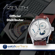 Azimuth Retrograde Minutes Jour Et Nuit Watch Daynight Indicator Silver Dial