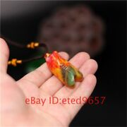 Gifts Jadeite Jade Color Pendant Natural Amulet Cicada Necklace Jewelry Hand
