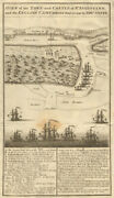 The Town And Castle Of St. Augustine. 1740 Siege. Spanish Florida. Silver 1740 Map
