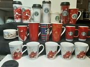 Starbucks 21 Piece Coffee Mug Cup And Tumblers Holiday Festival Group