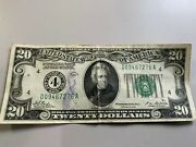 Series Of 1928-a Us 20 Twenty Dollar Bill - Redeemable In Gold - Free Ship Us