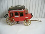 Vintage Wells Fargo And Co U.s. Mail Tin Stagecoach Mini Bar Decanter W Glasses