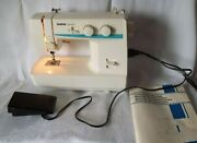 Vintage Brother Ls-1217 Convertible Free Arm Sewing Machine Cord And Manual