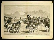 Cowboys Cattle Ranching / Driving Cattle Into A Corral In The Far West 1875
