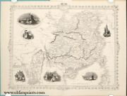 China Map After John Tallis / Part 36 Individually Issued Of The Chinese Empire