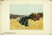 United States / Quartermasterand039s Department Train Of Pack Mules Attacked 1892