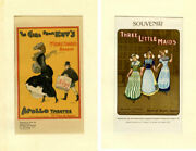 Theatre / Miniature Musical Comedy Posters Circa 1903 The Girl From Kayand039s