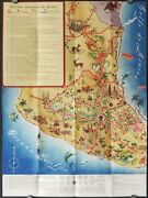 Mexico Pictorial Map / The Highway Map Of Mexico 1940