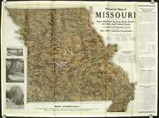 Pictorial Map Of Missouri Showing State Highway Systems State Parks Streams