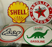 Lot Of 4 - 24 Texaco Sinclair Esso And Other Gas Station Signs