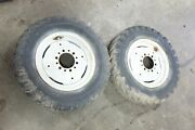 62 - 65 Early Ford 4000 Tractor 801 901 Front Wheels Rims And Tires
