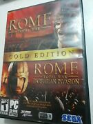 Rome Total War Gold Edition - Pc - Dvd-rom - Cib 4-discs And 2 Manuals