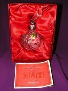 Waterford Crystal 12 Days Of Christmas Ornament A Partridge In A Pear Tree Nib