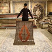 Yilong 3and039x5and039 Medallion Hand Knotted Tapestry Classic Silk Carpet Area Rug P034h