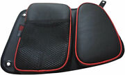 Bs Sand Storage Bags For Rear Doors Left/right For Polaris Rzr Xp Black/red