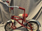 Vintage Radio Flyer Retro Red Tricycle Trike Red And White Childand039s Toy Model 35