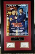 Jackie Chan Chris Tucker Signed 20x33 Display Rush Hour Rts 124 Index Cards Psa