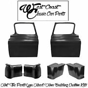 1959 Chevy Truck Door Shells Cab Corner Inner Outer Rh Lh Second Series Kit +