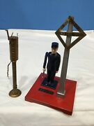 Vtg Lionel Corporation No. 1045 Flagman Train Set Accessory And Fueling Station