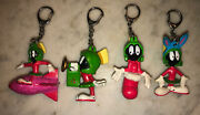 Vintage 90s Marvin The Martian Keychain Lot Of 4