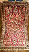 Amazing Antique 1910 Estate Small Rug With Good Pile Beauty 3and03911 X 2and0391