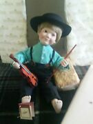 Ashton-drake Galleries Porcelain Doll Ethan Amish Inspirations Collection