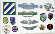 14 Pieces - Military Insignia And Badges Andndash Lot 9