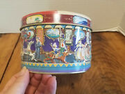 1997 Coke Coca Cola Embossed Carousel Candy Tin All Rides 5 Cents