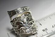 The Fanciest Gorham Coligni 1889 Sterling Silver Spoon Ring Sz 7 Free Shipping