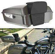 Billet Silver Chopped Tour Pak Pack Pad Luggage Trunk For 1997+ Harley Touring