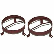 External Headlight Stone Grill Guard 8.5 Steel Pair For Willys Jeeps
