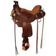 Circle Y Walnut Grove 17andrdquo Wade A-fork Trail Saddle Wide 1157-8701-04 New