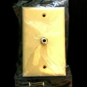 Rca Lot Of 10 Ivory Coaxial Connector Jack Wall Plates Video F-type Catv Cable