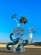 8 Recycler Glass Hookah Water Pipe Bong Bubbler Perfect Flow Us Made