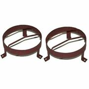 External Headlight Stone Grill Guard 8.5 Steel Pair For Willys Jeeps @ca