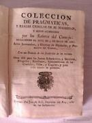 Collection�n Of Pragmaticas And Real Cedulas Her Majesty Cars Acordados 1766