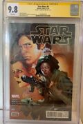 Han Solo Star Wars 9 Cgc 9.8 Signed Harrison Ford Signature Series Comic