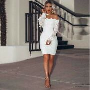 Custom Made To Order Off The Shoulder Lace Cocktail Mini Dress Plus 1x-10x Y842