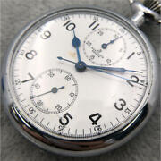 Breitling Hand-wound Pocket Watch Chronograph 17jewels 371 Chronograph White