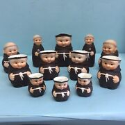 """Group Of """"friar Tuck"""" Ware By W. Goebel 12 Pieces"""