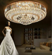 Led Remote Control S Gold K9 Crystal Ceiling Light Pendant Lamp Chandeliers 6728
