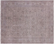 10and039 1 X 12and039 5 Handmade Vintage White Wash Wool Area Rug - Q4617