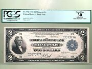 1918 2 Federal Reserve Bank - Minneapolis - Pcgs 30 Very Fine Fr. 772