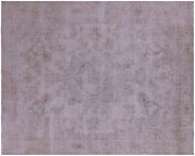 Vintage White Wash Handmade Wool Rug 9and039 5 X 11and039 7 - Q4625