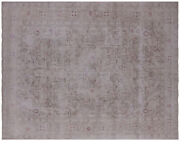 Vintage White Wash Handmade Rug 9and039 6 X 12and039 1 - Q4631