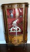 Vintage French Style Serpentine Fronted Display Cabinet