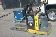 Hyster Rider Pallet Jack With Charger 24v B60zac Working 6000 Pound Capacity
